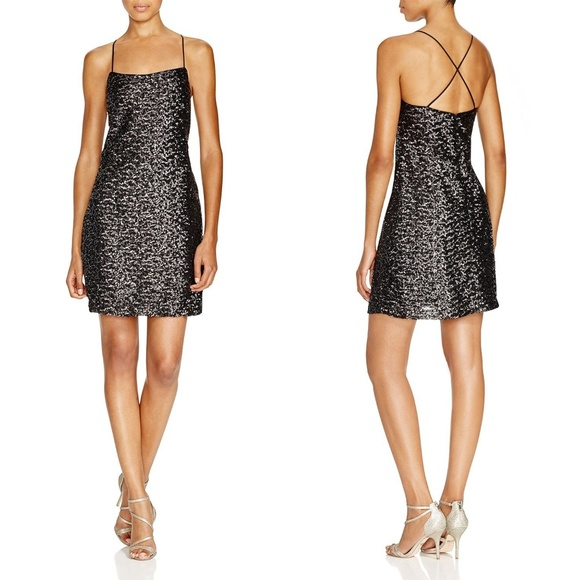 82afe931125e Vera Wang Dresses | Bloomingdales Sequin Slip Dress Sz 10 | Poshmark